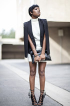 cape Missguided blazer - Missguided heels