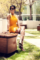 Zara dress - Sunday Somewhere sunglasses - Jeffrey Campbell sandals
