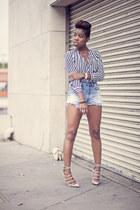 H&M top - vintage levis shorts - samantha Kurt Geiger heels