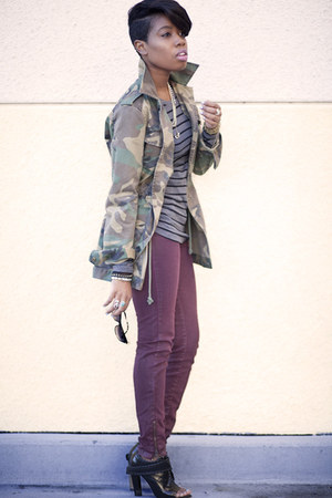 camo jacket bycorpus jacket - peep toe boot Alexander Wang boots