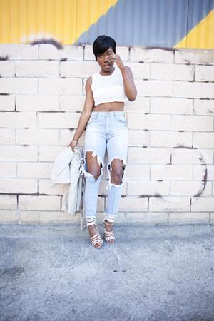 Aldo heels - boyfriend jeans Tobi jeans