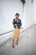 leather Zara jacket - asos skirt - so kate Christian Louboutin heels