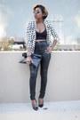 High-waist-asos-jeans-checkered-missguided-blazer