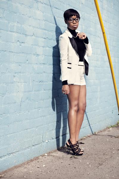 white suit asos suit - Gucci heels