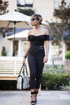 zeroUV sunglasses - Missguided pants - Tibi sandals - asos top