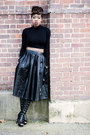 Open-toe-shoedazzle-boots-midi-luluscom-skirt-cropped-asos-top