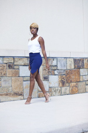 RVCA top - luluscom skirt - nudist stuart weitzman heels