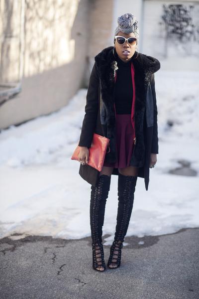 Locks and Trinkets jacket - tony bianco boots - zeroUV sunglasses