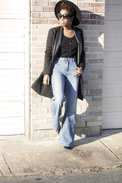 BB Dakota coat - wide leg H&M jeans