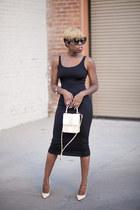 midi H&M dress - anouk Jimmy Choo pumps