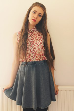 new look blouse - new look skirt