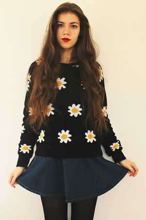 OMG Fashion jumper - American Apparel skirt