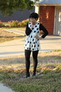 Cream-little-foxes-diy-dress-black-3-4-scoop-neck-american-apparel-top-dark-