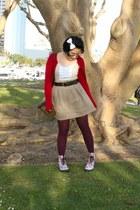 sanrio Dr Martens boots - Target tights - vintage purse - belted Forever 21 skir