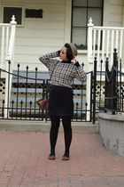 navy houndstooth thrifted vintage dress - heather gray tweed Urban Outfitters ha