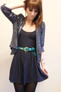 Purple-topshop-jacket-green-topshop-belt-purple-american-apparel-dress