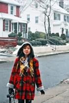 parion coat - Kill City jeans - H&M scarf - thrift gloves