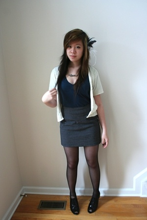 DIY accessories - thrift top - aa shirt - forever 21 skirt - merona tights - Apt