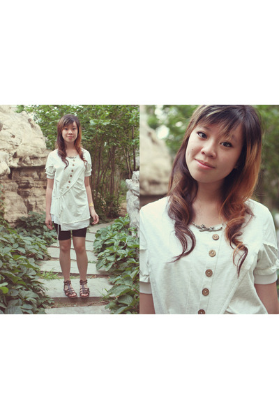 show li dress - dinasidun leggings - north point shoes - DIY necklace - lost  fo