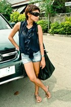Mango bag - Mango shorts - Glitterati sunglasses - Zara sandals - casio watch -