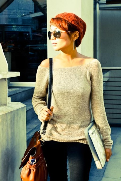 Terranova sweater , CMG bag , Mango sunglasses , random brand online heels , Pro