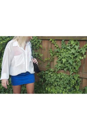 American Apparel shirt - H&M skirt - BCBG heels