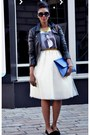 Black-leather-topshop-jacket-blue-clutch-asos-bag-round-vintage-sunglasses