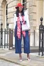 White-checkered-lk-bennett-shoes-red-fedora-laird-london-hat
