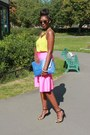 Zara-necklace-primark-shoes-blue-clutch-asos-bag