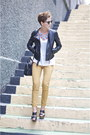 Mustard-h-m-jeans-black-leather-sisley-jacket-black-uterque-sandals