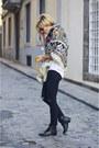 Black-mango-boots-black-zara-jeans-magenta-mercadillo-scarf