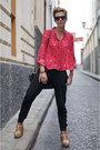 Red-zara-shirt-black-shana-pants-nude-uterque-heels