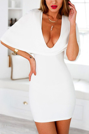 white cape Lookbook Store dress