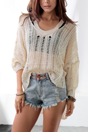 eggshell macrame Lookbook Store top