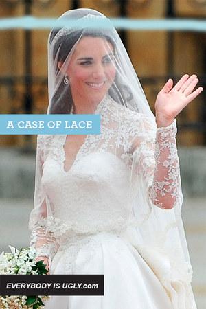 white lace Sarah Burton dress