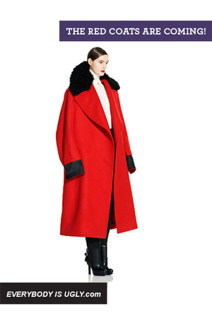 red Alexander McQueen coat