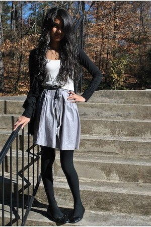 heather gray dress Splendid dress - black tights HUE tights