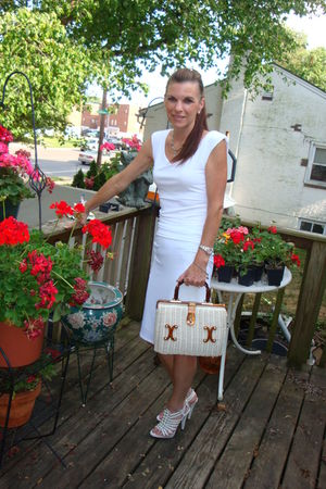 white victoria secret dress - dbgb shoes - unknown purse