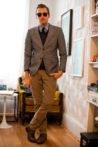 Topman boots - alternative apparel sweater - banana republic blazer - BDG shirt