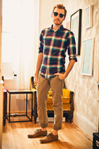 Urban Outfitters shoes - J Crew shirt - Ray Ban sunglasses - Levis pants