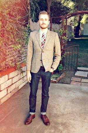 stafford ashton JCPenney shoes - Doctrine Denim jeans - H&M blazer