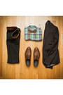 Brown-wingtip-alfani-shoes-black-lip-service-jeans-black-h-m-blazer-linen-