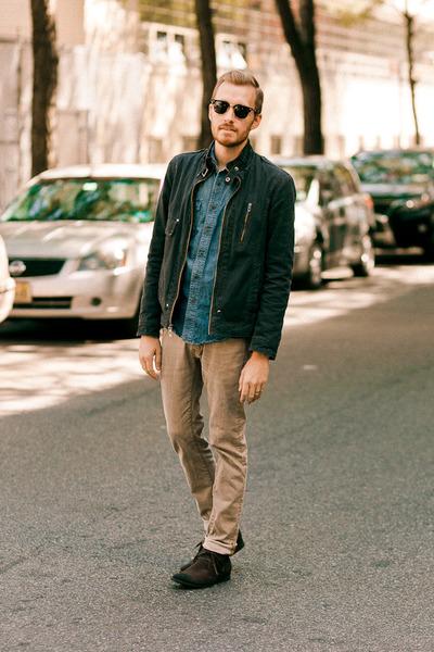 Forever 21 boots - H&M jeans - Guess jacket - Lands End Canvas shirt