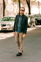 Forever 21 boots - H&M jeans - Guess jacket - Lands End Canvas shirt