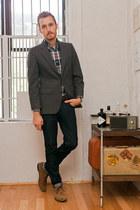 Urban Outfitters boots - David James blazer - J Crew shirt - K-mart watch
