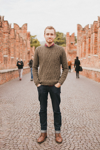 Topman sweater - Topman boots - Doctrine Denim jeans - Club Monaco shirt