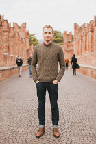 Topman sweater - Topman boots - Doctrine Denim jeans - Club Monaco shirt