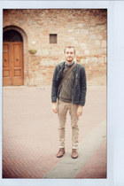 Topman boots - H&M jeans - Guess jacket - Topman sweater