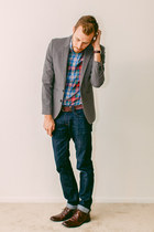 J Crew shirt - Steve Madden boots - Doctrine Denim jeans - H&M blazer