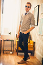 Light-brown-urban-outfitters-shoes-black-lip-service-jeans-heather-gray-heri